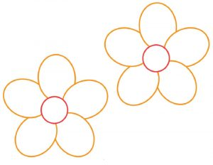 Flower template printable stencil 001
