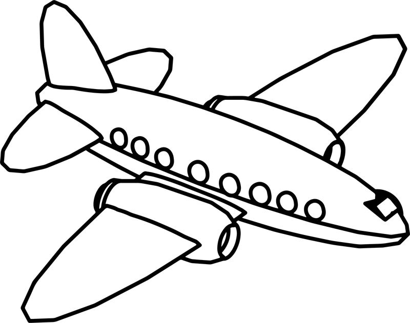Fly Cartoon Plane Coloring Page 3