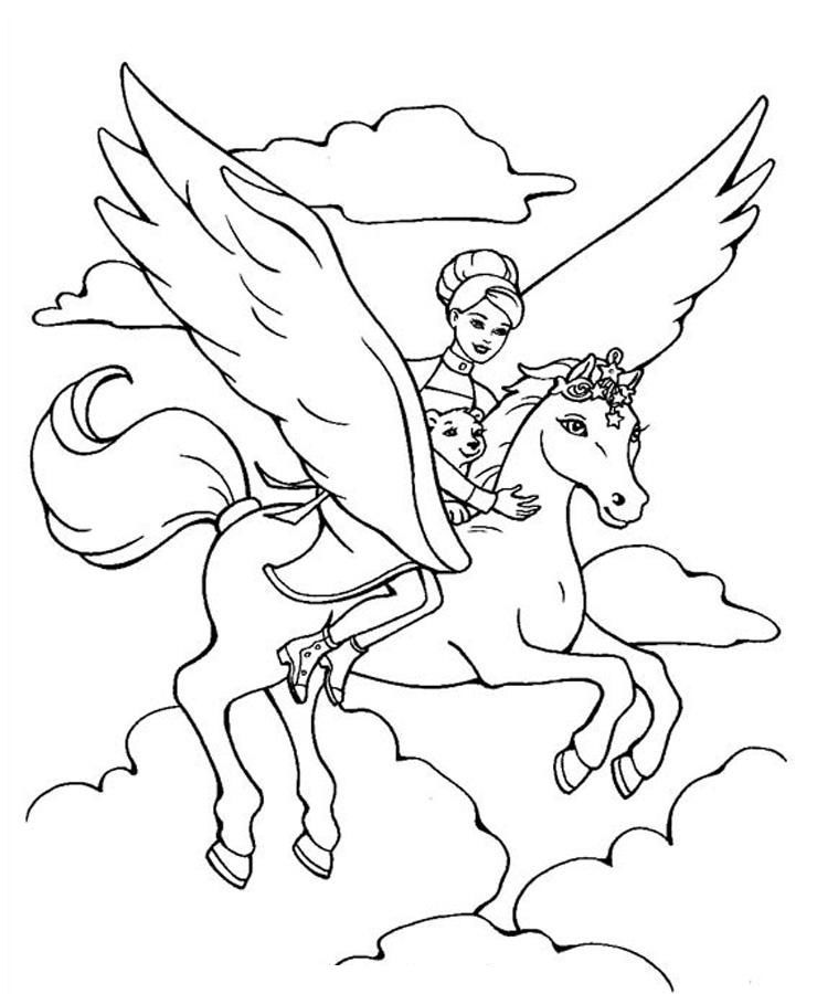 Flying Horse Coloring Pages