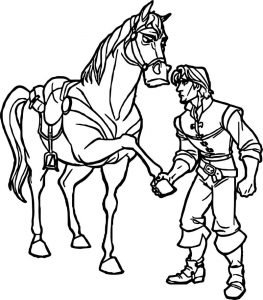 Flynn and horse angry coloring page