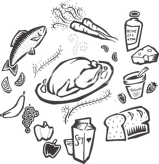 Food And Nutrition Coloring Pictures To Print