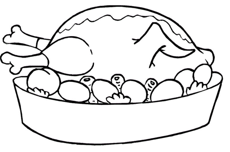 Food Coloring Pages Chicken Coloring Page To Print