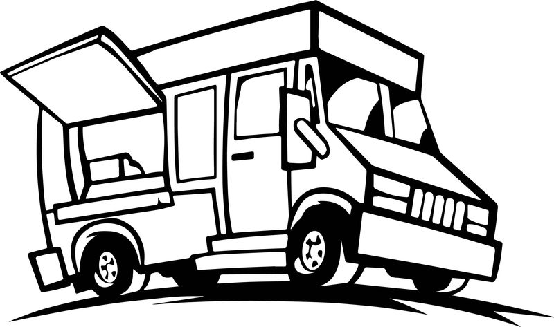 Food Truck Coloring Page