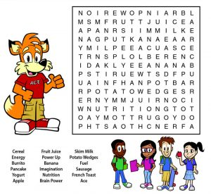 Food word searches fun