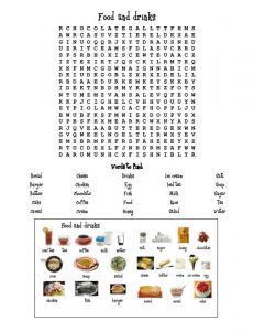 Food word searches pictures