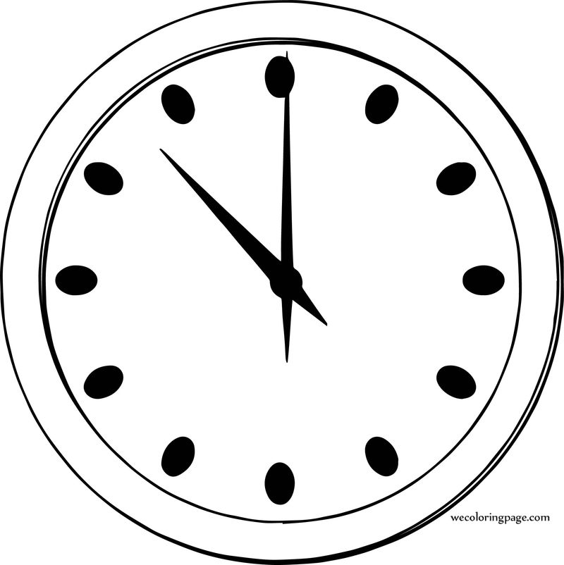 Football Clock Coloring Page