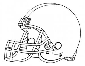 Football color sheets helmet