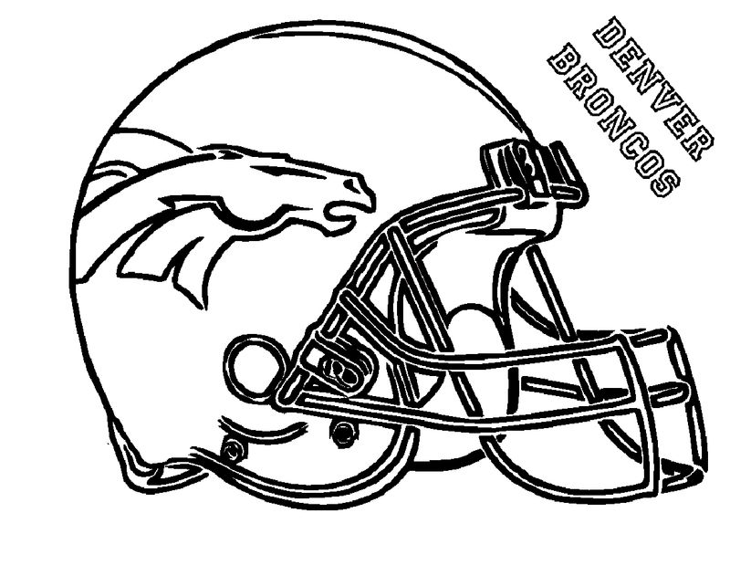 Football Coloring Page Helmet 001