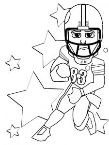 Football coloring pages 001