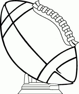 Football coloring pages 1