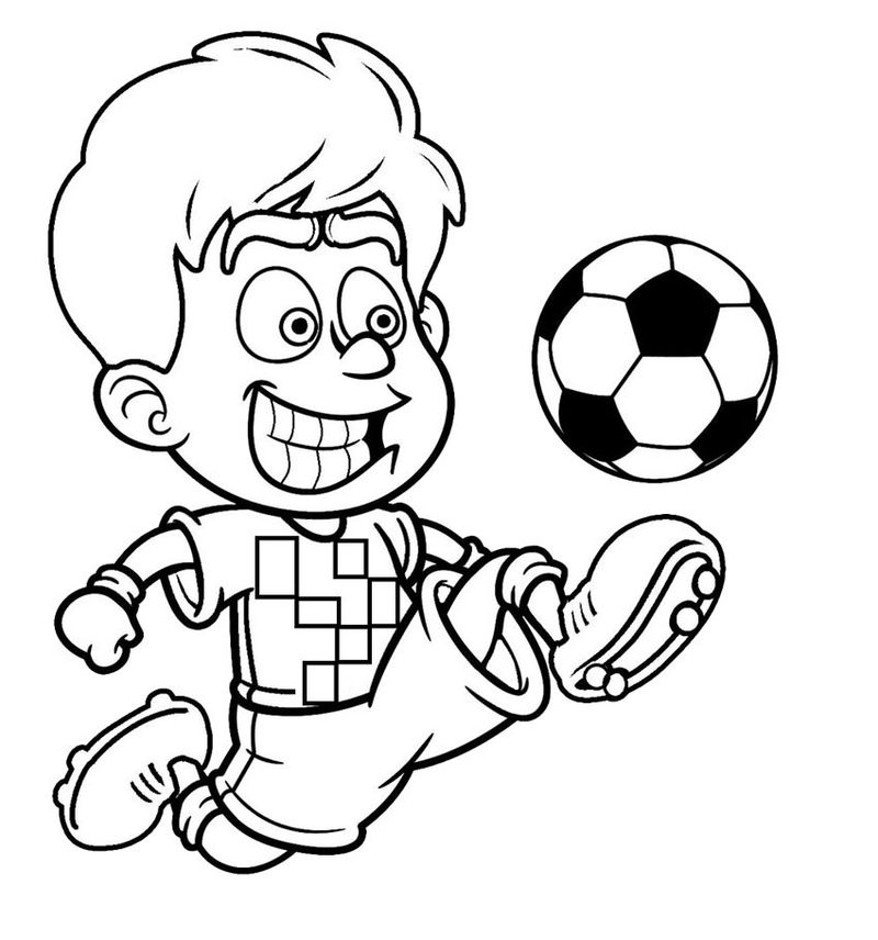 Football Coloring Pages For Kids Print