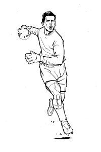 Football coloring pages goalkeeper