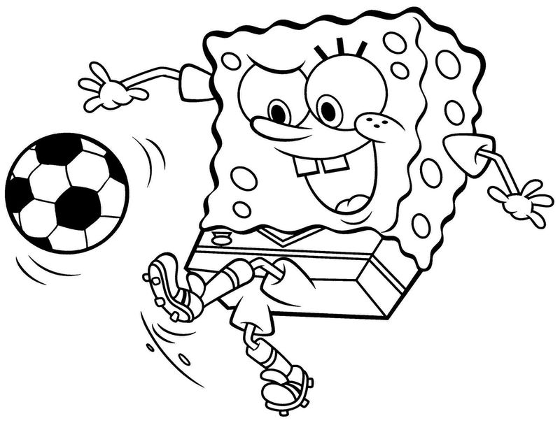 Football Coloring Pages Spongebob