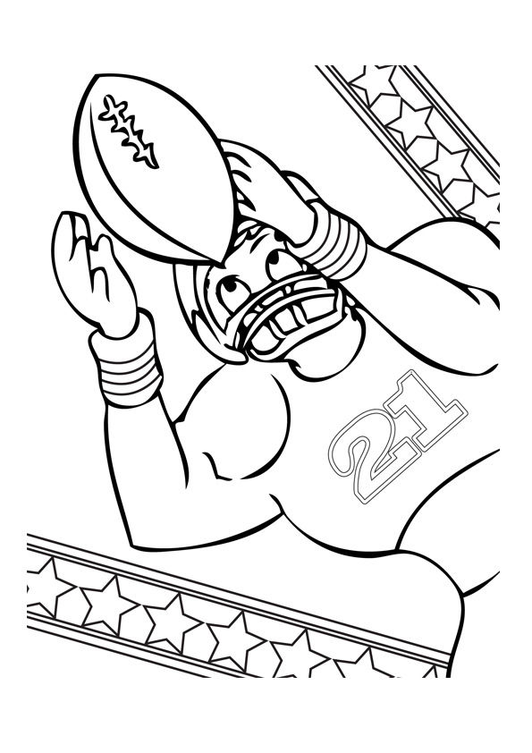 Football Player Coloring Page 001