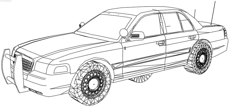 Ford Crown Victoria Fire Chiefs Car Coloring Page