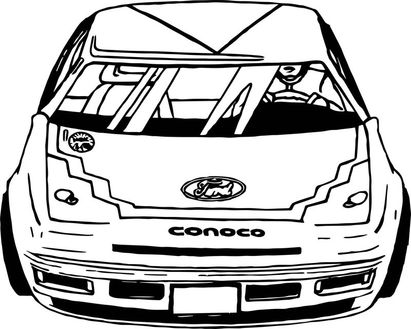Ford Rally Race Car Coloring Page