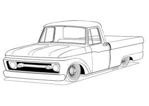 Ford truck car coloring pages