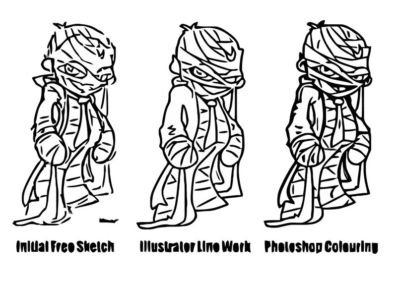 Forensic Mummy014 Cartoonize Coloring Page