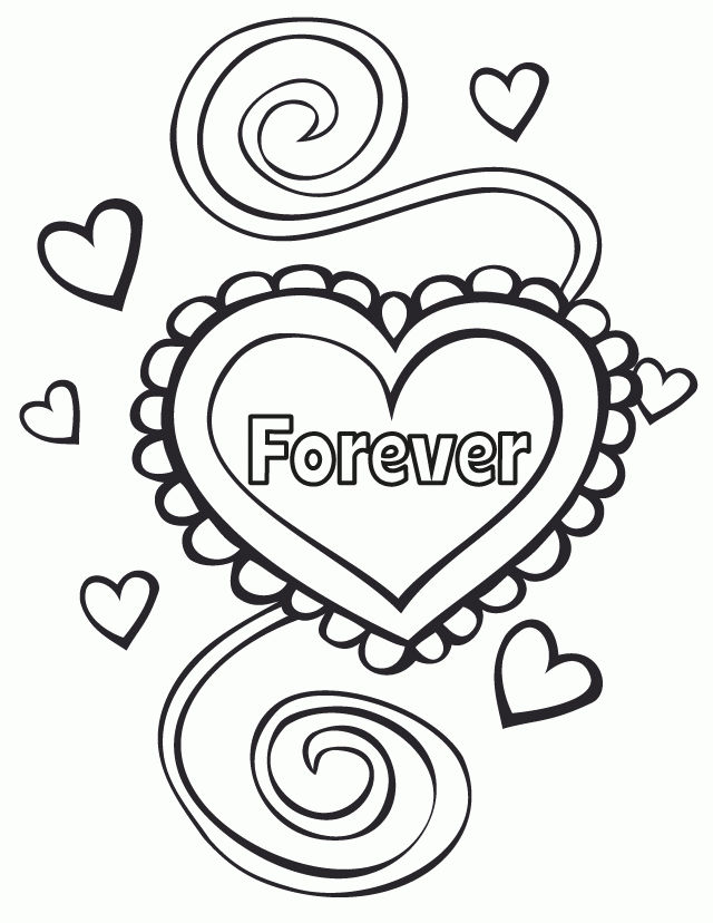 Forever Wedding Coloring Pages 001
