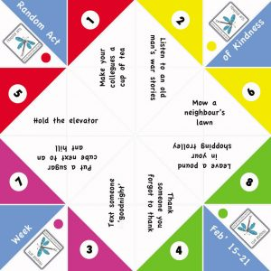 Fortune teller paper game 2016