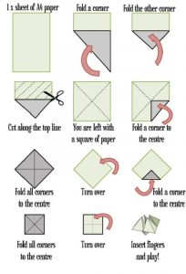 Fortune teller paper game free