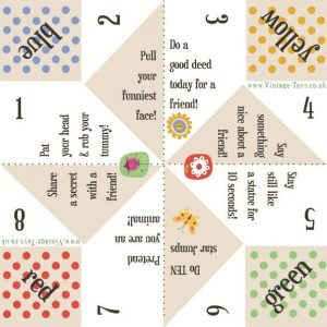Fortune teller paper game templates 001