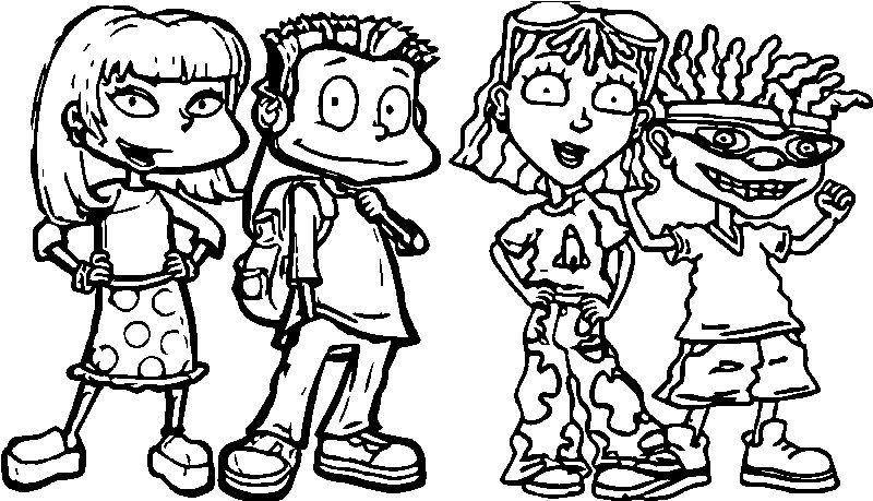 Four Children All Grown Up President Coloring Page