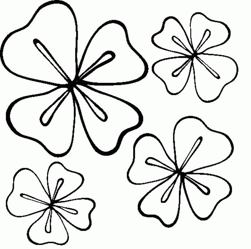 Four Leaf Clover Coloring Page