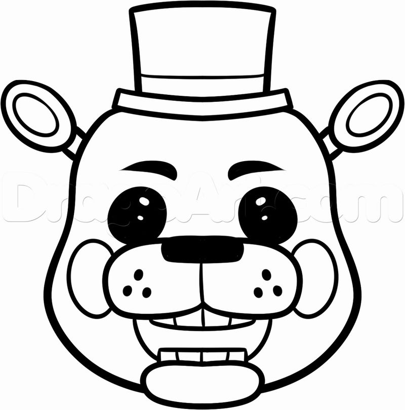 Freddy Fazbear Coloring Page Kids