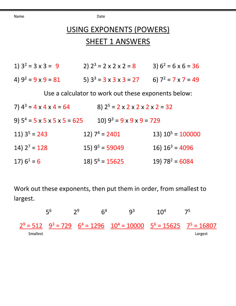 Free 5th Grade Math Worksheets With Answers