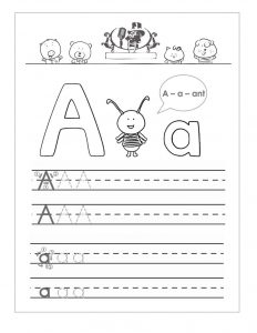 Free abc worksheets letter a