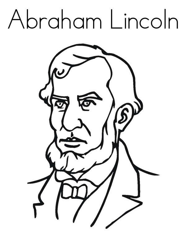 Free Abraham Lincoln Coloring Worksheets