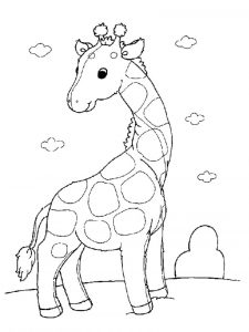 Free activity pages giraffe