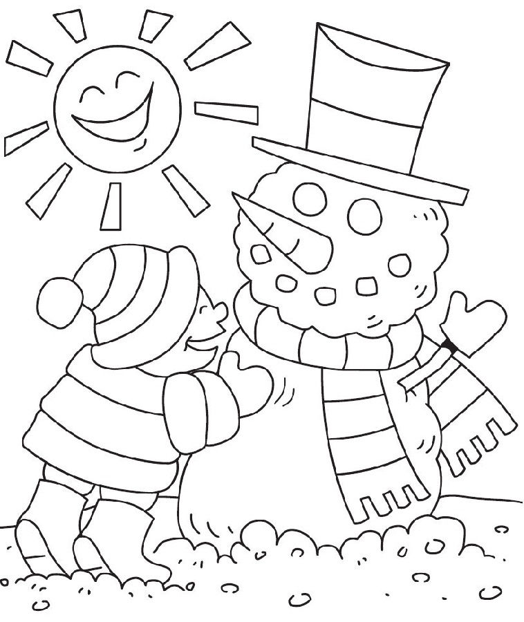 Free Activity Pages Winter