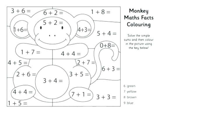 Free Addition Worksheets With Coloring