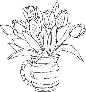 Free adult coloring pages flower 001