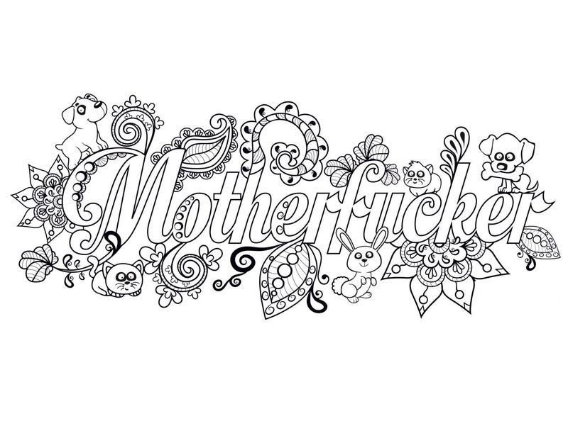 Free Adult Cuss Word Coloring Page