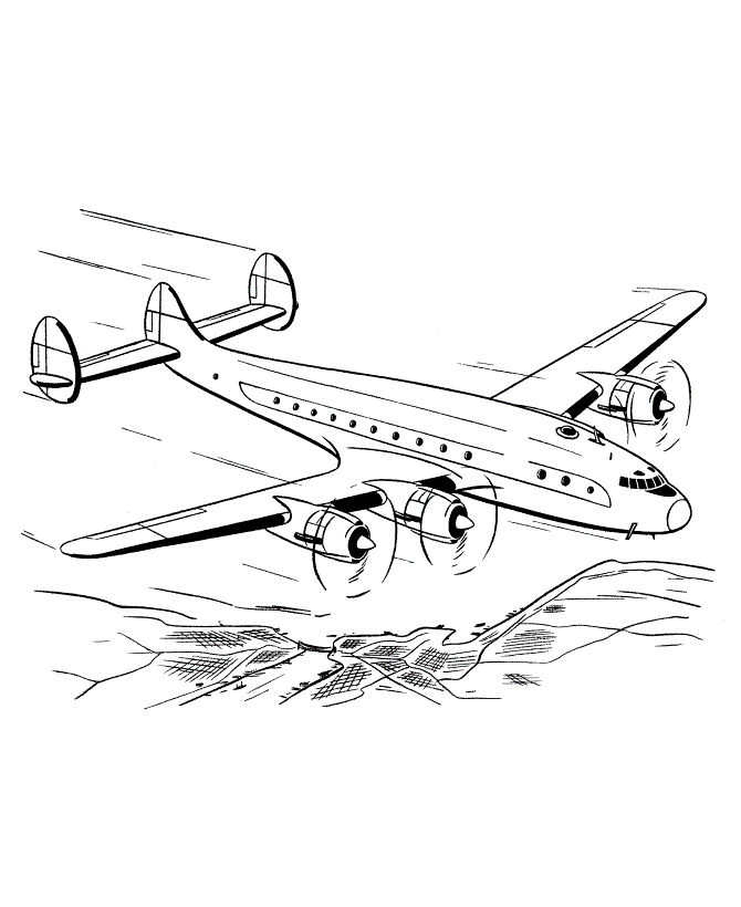 Free Airplane Coloring Pages