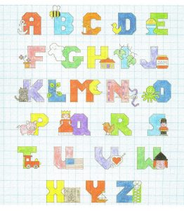 Free alphabet chart colorful