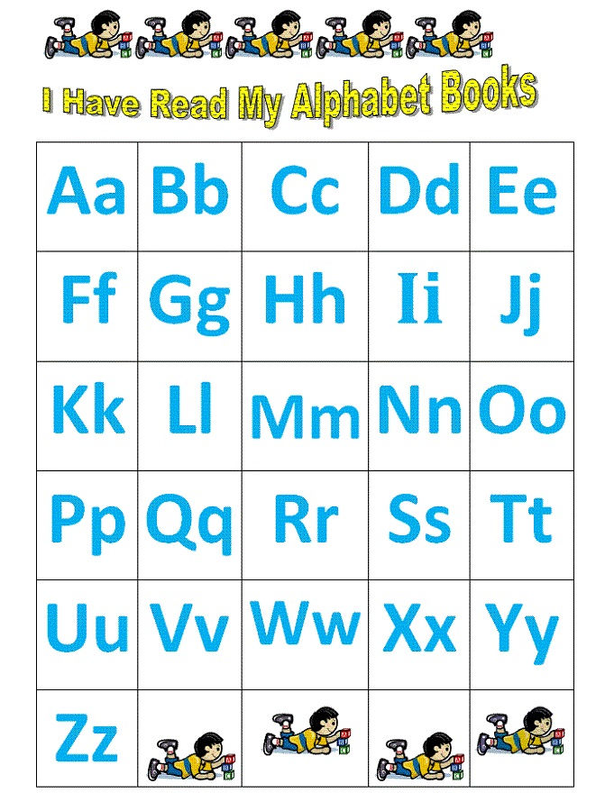 Free Alphabet Chart For Kids