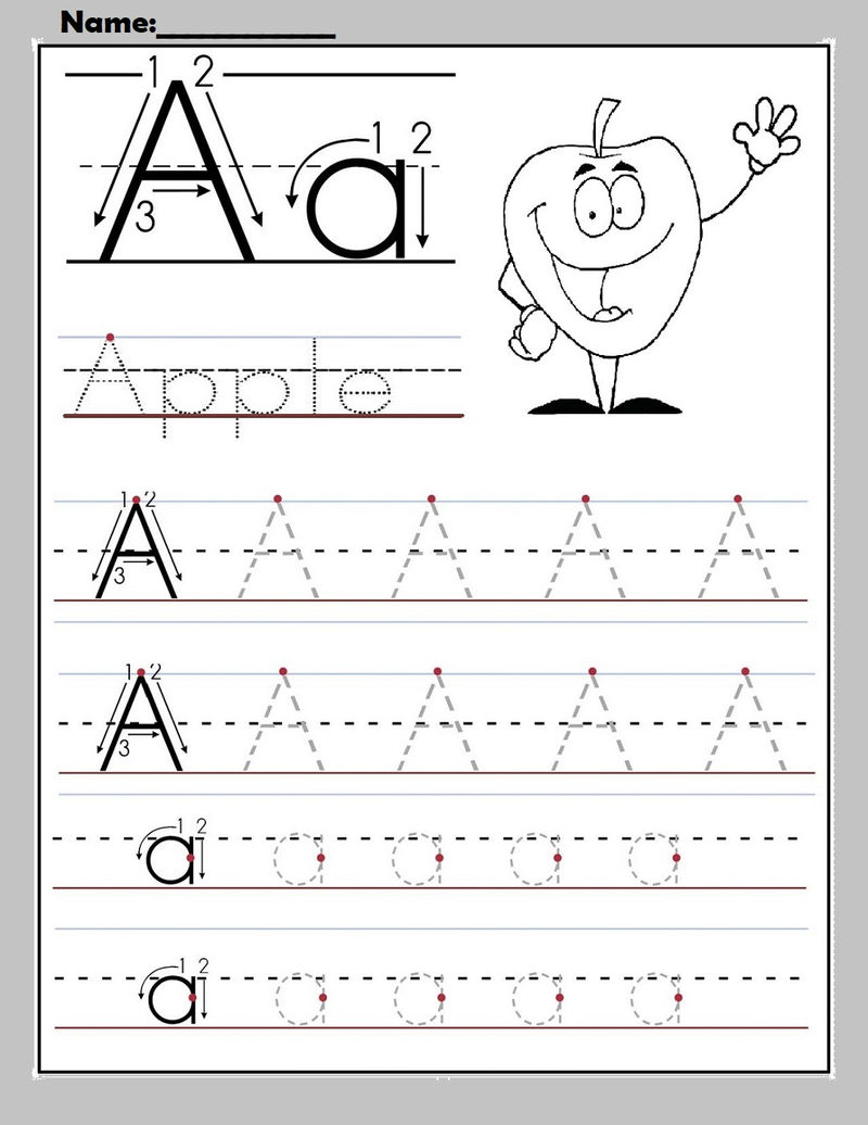 Free Alphabet Worksheets To Print A For Apple