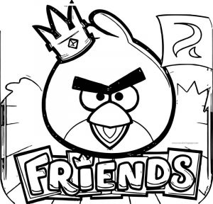 Free angry birds friends coloring page