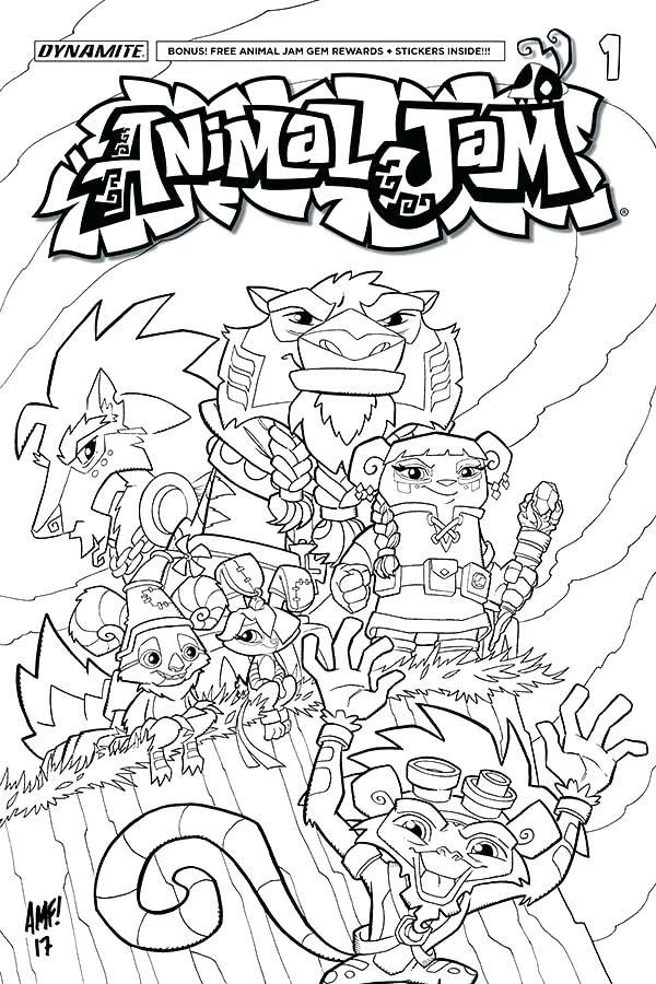 Free Animal Jam Coloring Pages