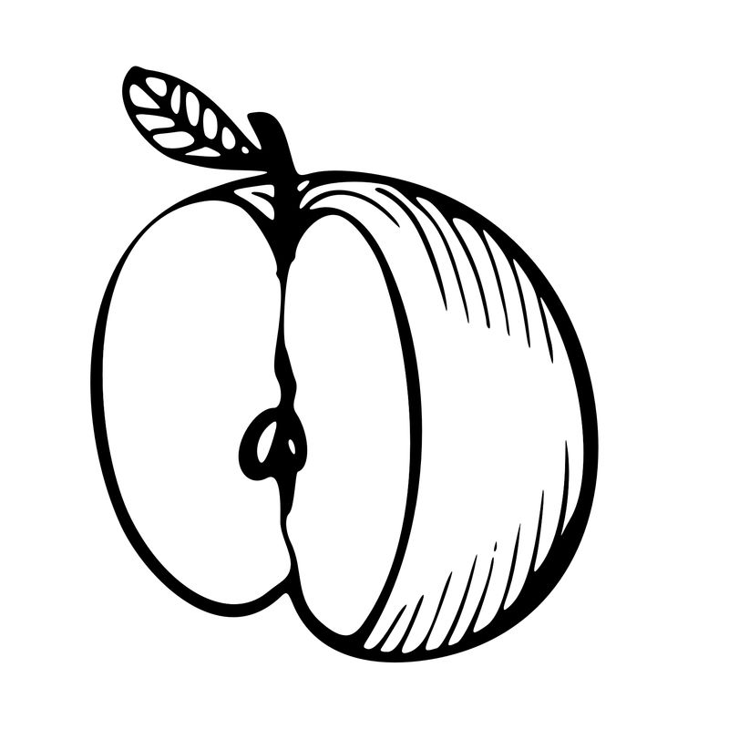 Free Apple Coloring Pages For Kids