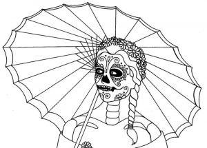 Free art for day of the dead coloring 001