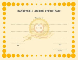 Free basketball certificates page