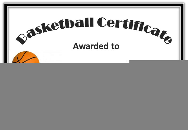 Free Basketball Certificates Printable 001