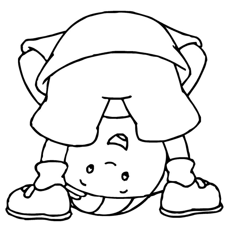 caillou coloring pages | Free Caillou Coloring Pages For Kids - Coloring Sheets