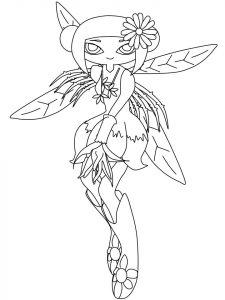 Free cartoon fairy coloring page