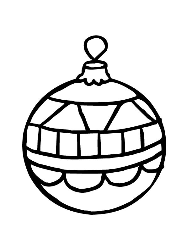 Free Christmas Ornament Coloirng Page
